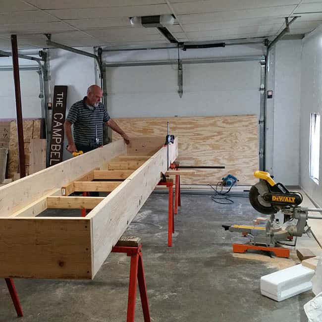 ShuffleBoard Table being built by Bob