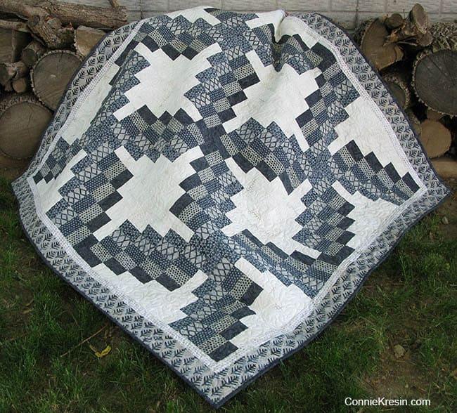 Swirly quilt pattern