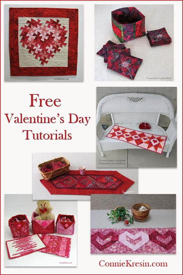 Valentine Tutorials at ConnieKresin.com