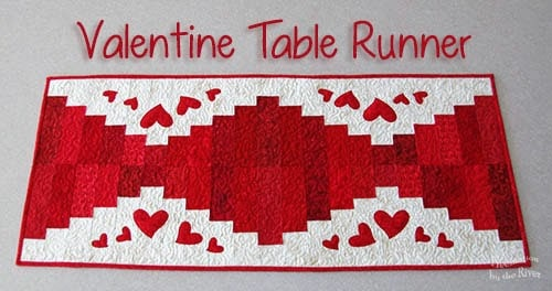 Valentine Table Runner Tutorial at ConnieKresin.com