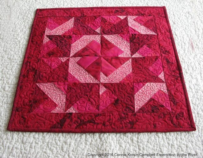 Batik Valentine Table Topper Tutorial