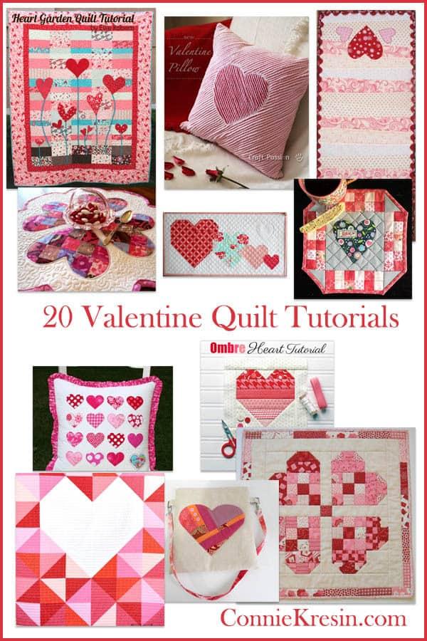 20 Free Valentine Heart Quilt Tutorials