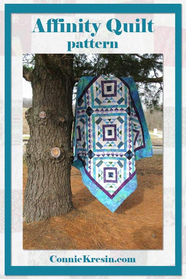 Affinity quilt pattern made in batiks