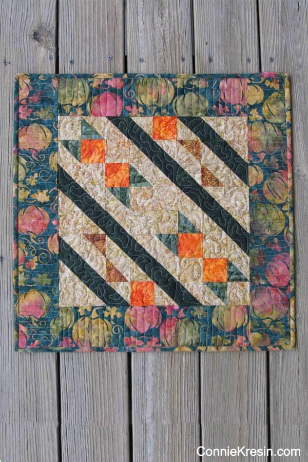 Arrowhead Table Topper quilt pattern Batik fabrics #IslandBatik ConnieKresin.com