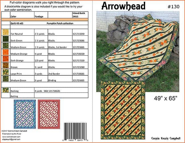 Arrowhead Quilt Pattern