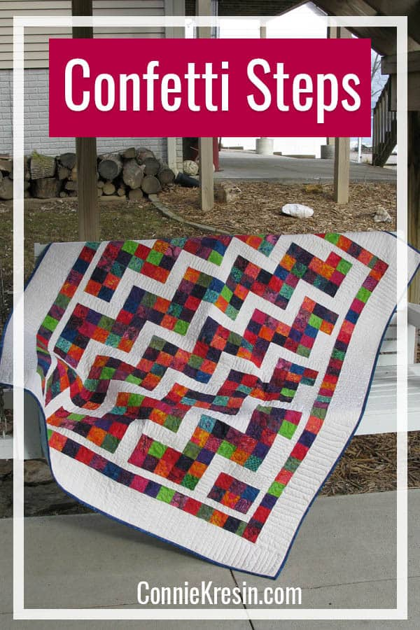 Confetti Steps quilt pattern fast and easy to make