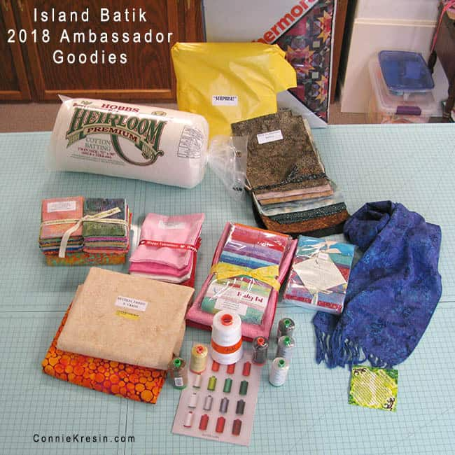 Island Batik Ambassador box of goodies