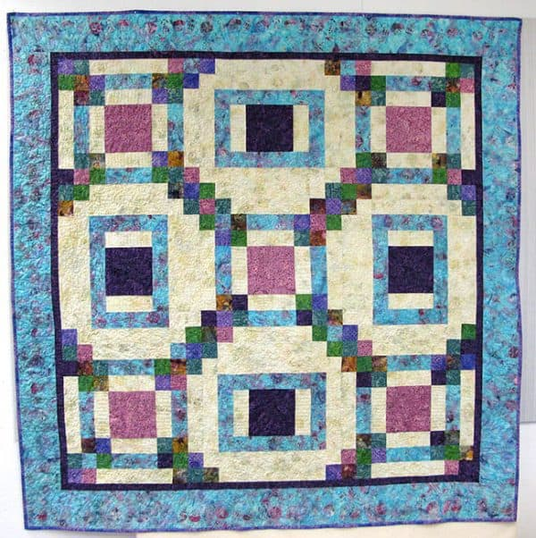 Maze Quilt Pattern fast and easy to make #quilt #batiks #pattern #quilting