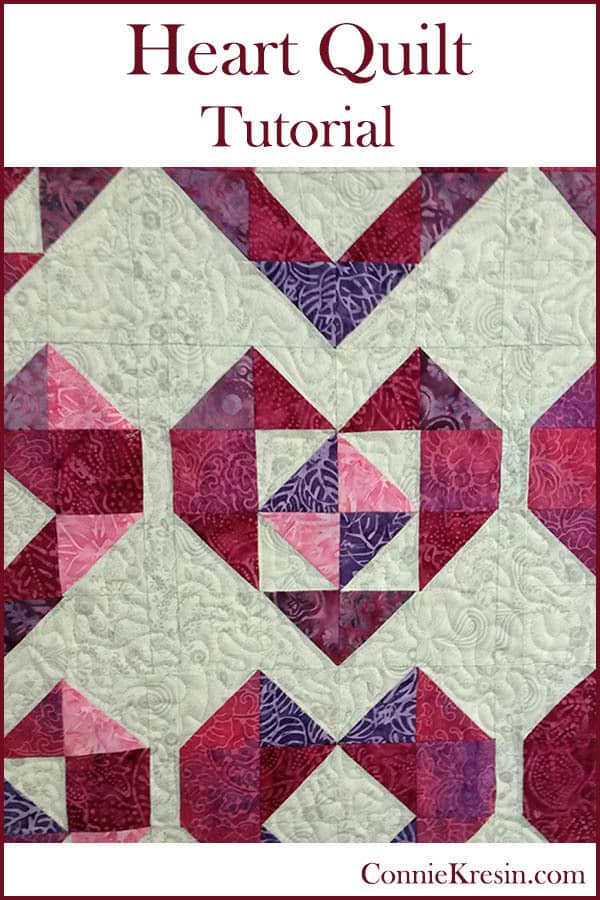 Heart Baby Quilt Tutorial is fast and easy to make ConnieKresin.com