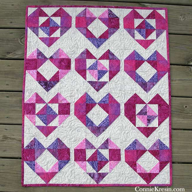 Heart Baby Quilt Tutorial