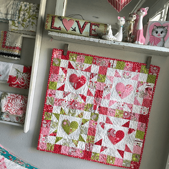 20 Free Valentine Quilt Tutorials Freemotion By The River