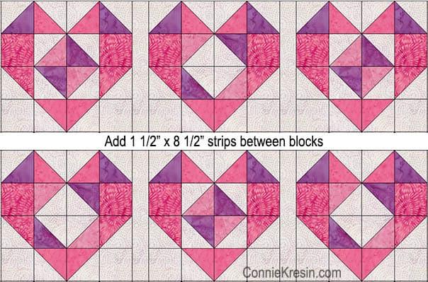 Add sashing between blocks