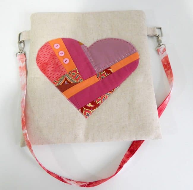 Scrappy Heart Pouch tutorial