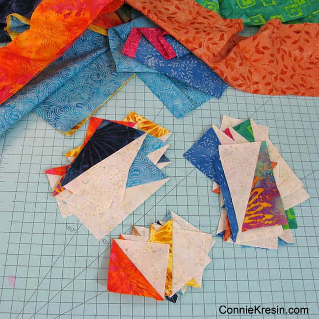 Scrappy quilting with my Island Batik stash #IslandBatik #Stash #quilting