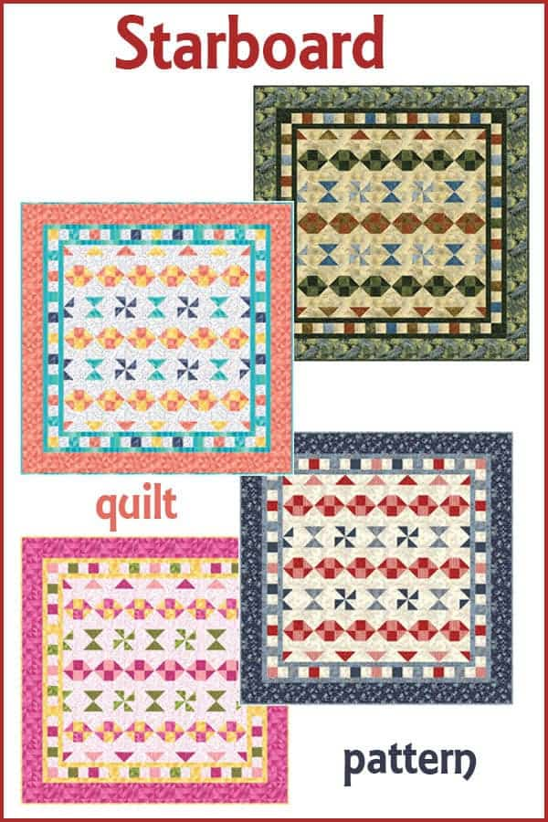 Starboard quilt pattern is easy to make