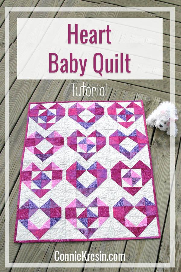 Heart baby quilt tutorial