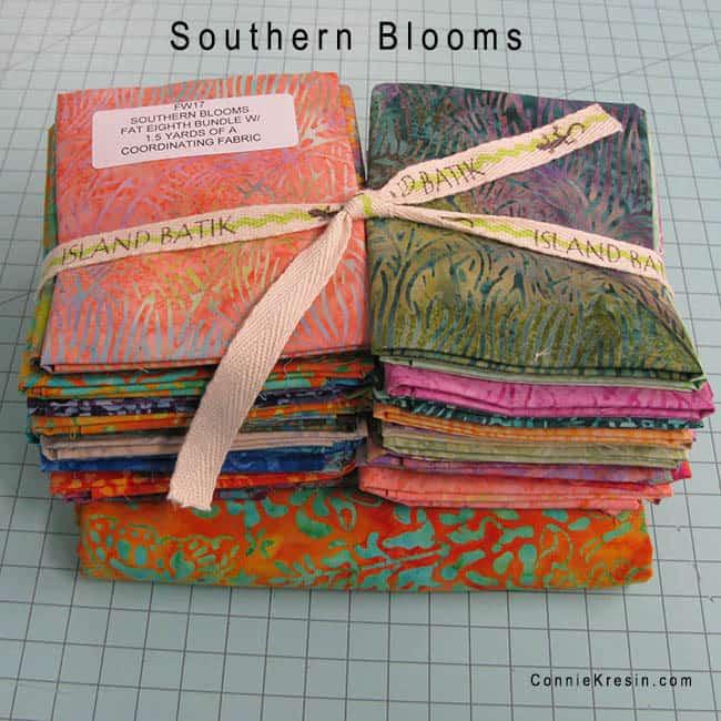 Island Batik Southern Blooms Fat Eighths batiks