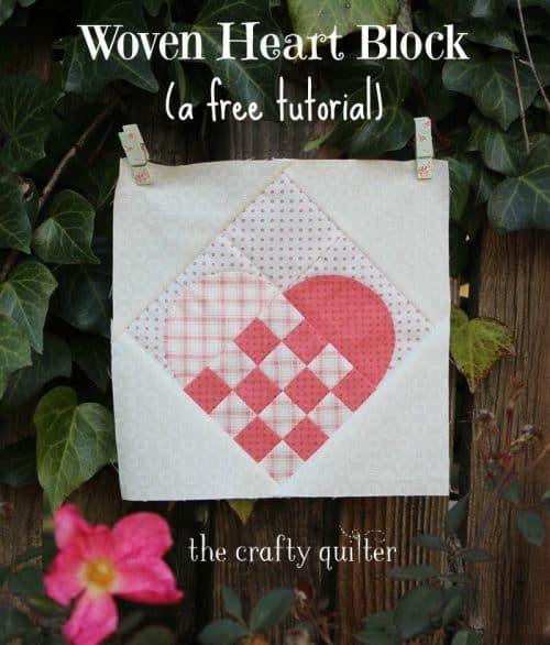 woven heart block tutorial