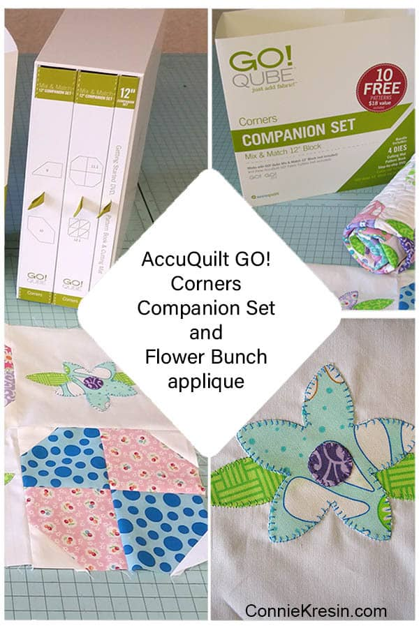 AccuQuilt Corner Companion Set Flower Bunch Applique
