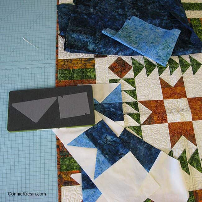 AccuQuilt Flying Geese blue