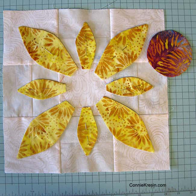 Applique Batik Flower Petals