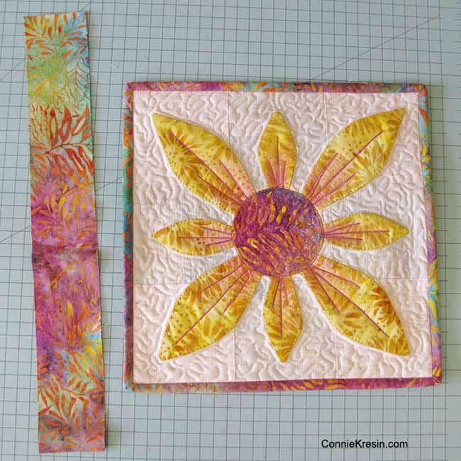 Applique Flower Candle Mat in batik