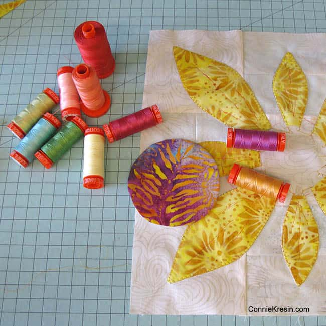 Aurifil thread used for applique