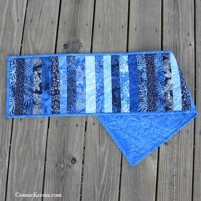 Blue Batik Table Runner Backing