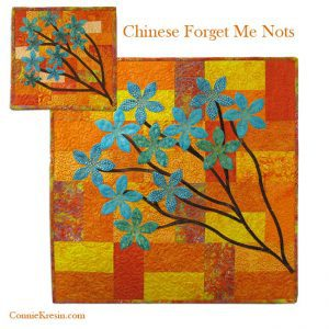 Chinese Forget Me Not Quilt Pattern in two sizes