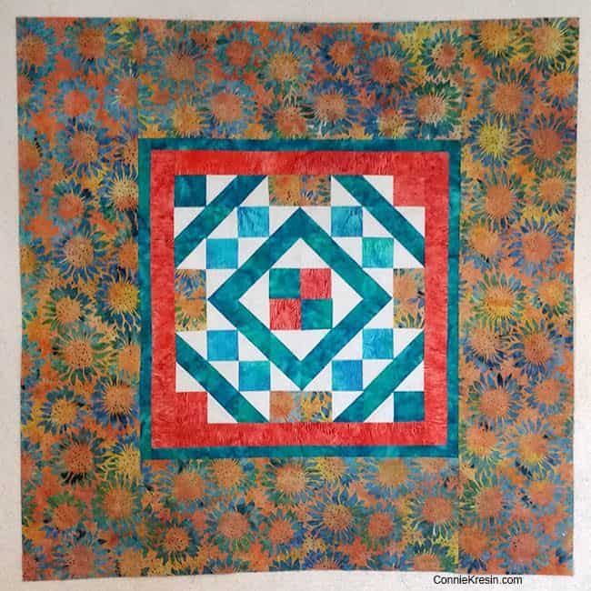 Diamond Maze Table Topper large batik border