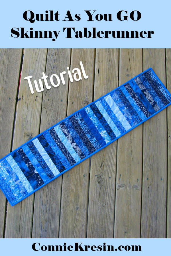 Quilt as you go skinny table runner tutorial