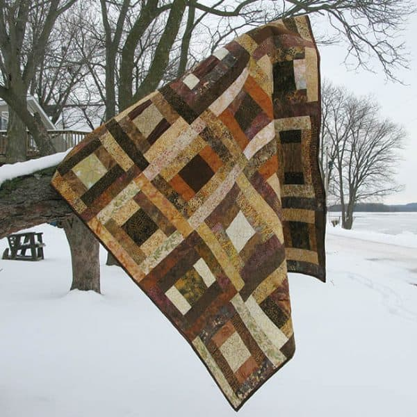 River Squares Quilt Pattern is fast and easy to make in lots of beautiful colors and fabrics #batiks #quilting #quilt