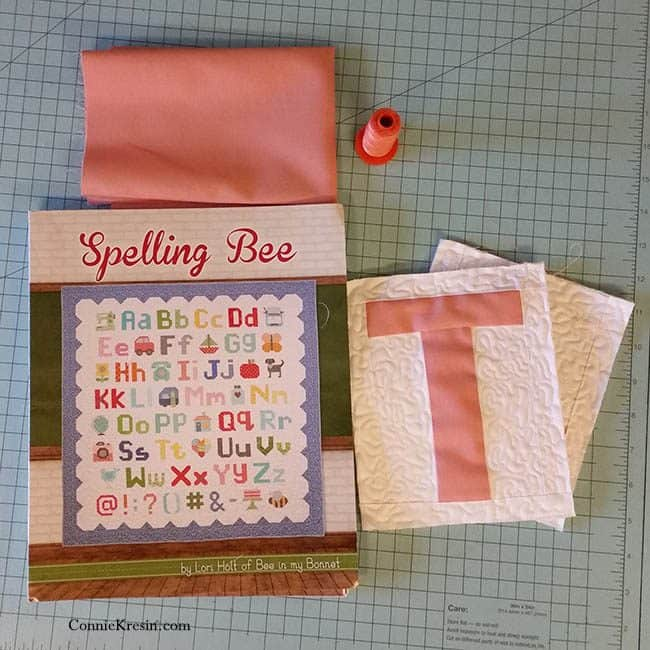 Spelling Bee Quilt Along uppercase T