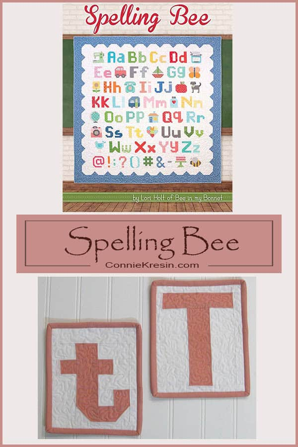 Spelling Bee Quilt Along uppercase and lowercase T #fatquartershop #SpellingBeeSaturday