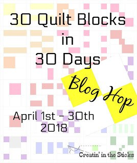 30 day blog hop quilt button at creatin' in the sticks