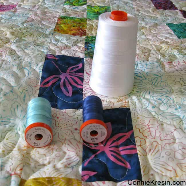 Aurifil thread for baby quilt