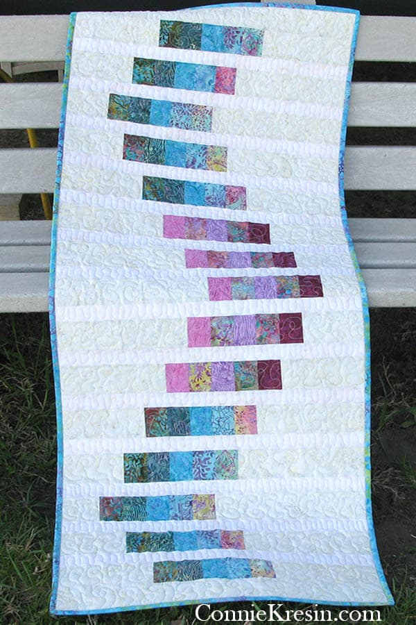 Bargello quilt project outside
