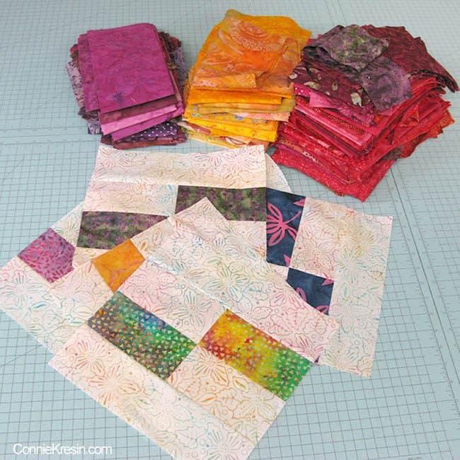 Batiks used for Painted Windows blocks