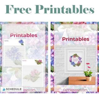 Free printables Hydrengea flowers
