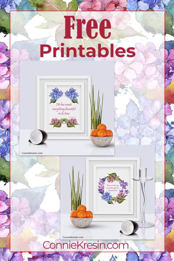 Free Printable Hydrangea Floral Prints