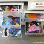 Storing Island Batik Scraps