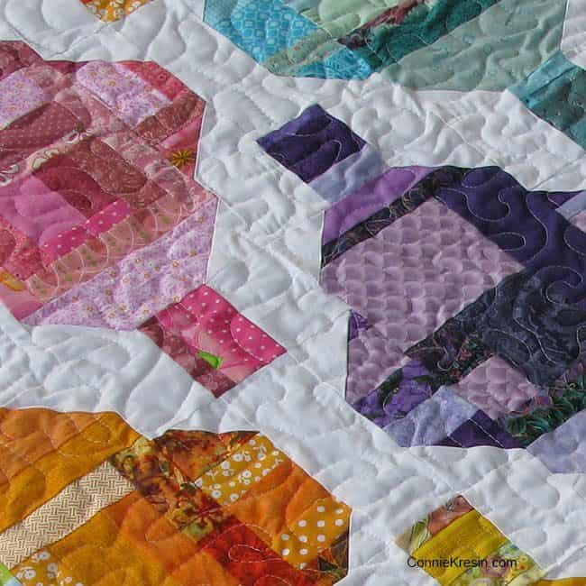 Stash Statement peek at quilting
