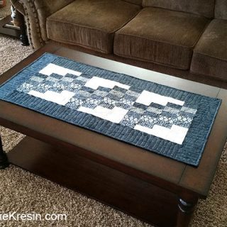 Swirly Quilted Table Runner