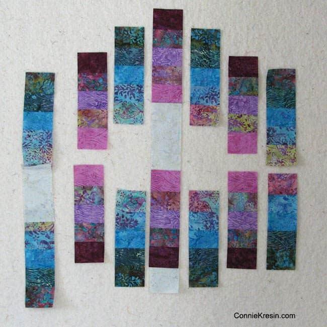 batik strip sets on wall
