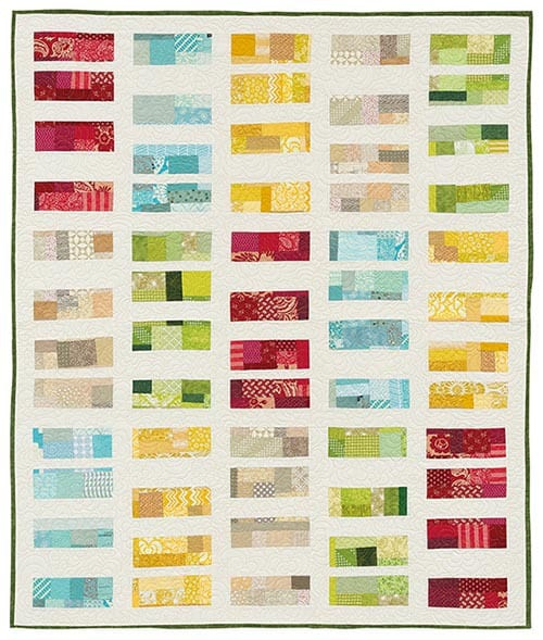 Louvered quilt pattern from Stash Statement book