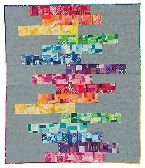 Precarious quilt from Stash Statement book