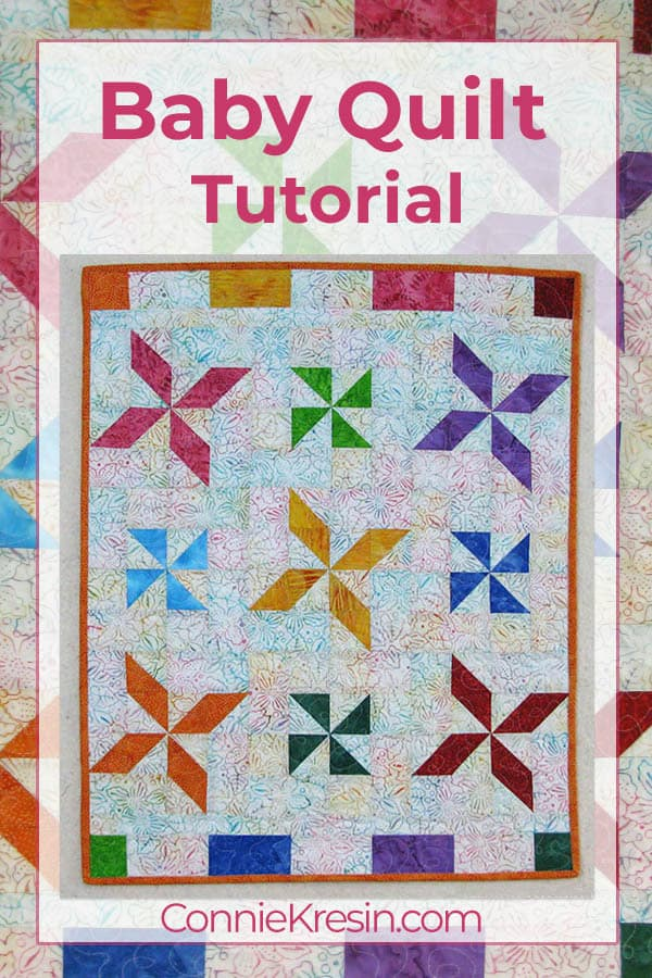Fast and easy batik baby quilt tutorial