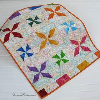 Pinwheel Batik Baby Quilt Tutorial