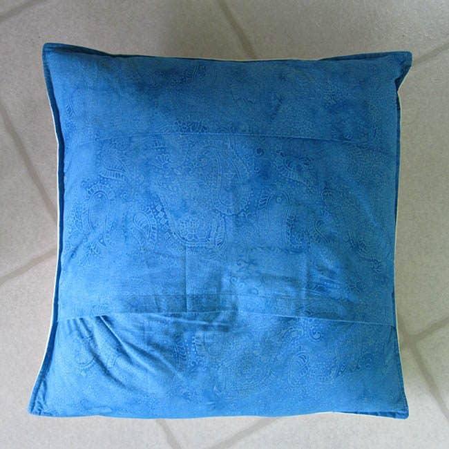 Batik Scrappy pillow back