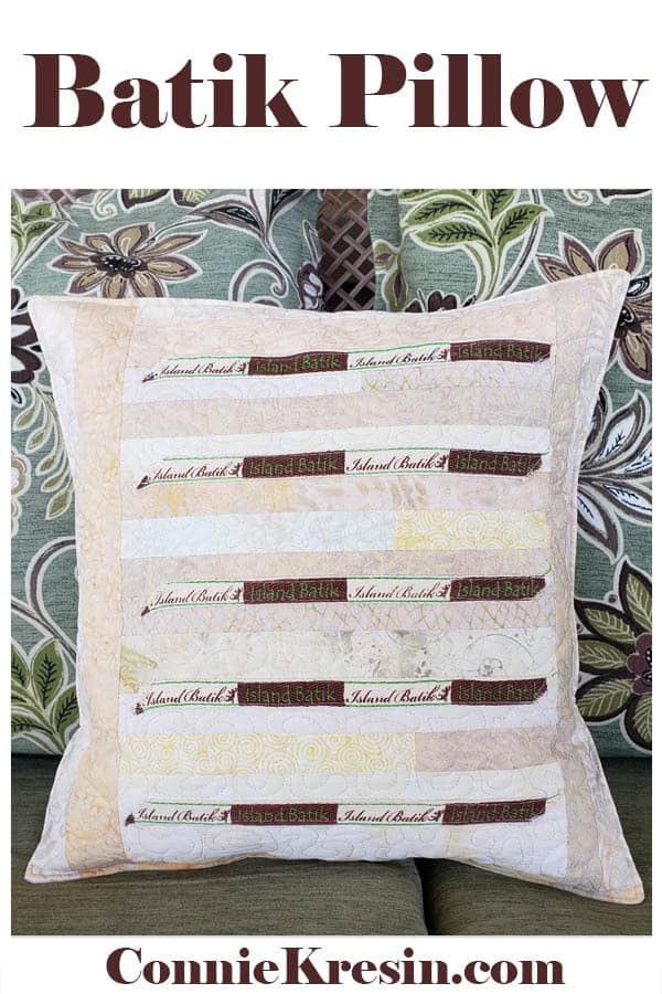 Island Batik Strip Label Pillow